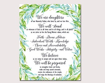 LDS Young Women Mutual Theme 2017, We Are Daughters, Printable Digital File