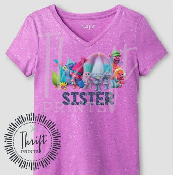 Trolls Movie Birthday Shirt