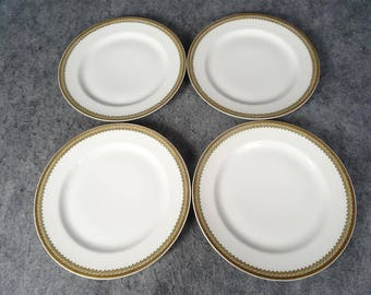 Haviland & Co. Limoges Lunch Plates Set of 4 - Schleiger 1210 Pattern