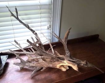 Oak Driftwood Aquarium Terrarium Centerpiece. Natural Drift Wood Fish Tank 897
