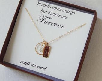 Sister Necklace, Sister for Eternity, Necklace for Sister, Silver Sister Necklace, Gold Sister Necklace, Sister Gift [407]