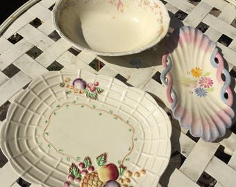 Three vintage ceramic pieces