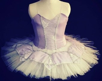 Lilac lace girls stretch tutu