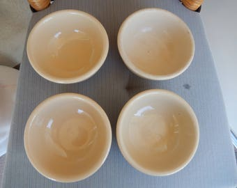 4, Small Restaurant Ware Bowls, Shenango and Walker, size on bottom
