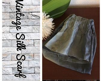 Vintage 1970's ombre silk scarf