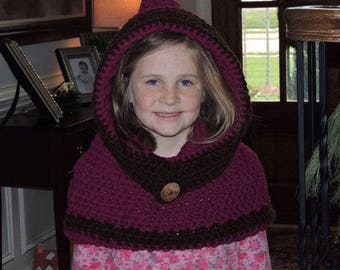 Hooded Cowl/ Toddler/ Ready to ship