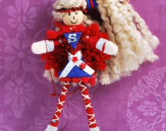 Super Hero Doll Fairy Doll goes Super Girl Doll Ornament