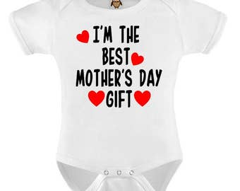 Cute Baby Bodysuit T-shirt Baby Child Infant Romper I'm The Best Mothers Day Gift Baby Onesie Vest Toddler Tee