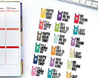 Sassy Adult Llama 2.0 Stickers! Perfect for your Erin Condren Life Planner, calendar, Paper Plum, Filofax!