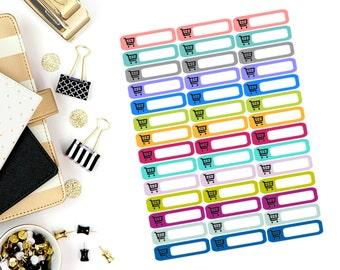 Shopping Cart Mini Label Stickers! Perfect for your Erin Condren Life Planner, calendar, Paper Plum, Filofax!