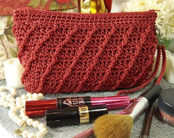 Clutch | Makeup Bag | Crochet PATTERN | Whimsical | Crocheted Purse | Crocheted Bag | Zippered Pouch | Gifts for Her | Accessory