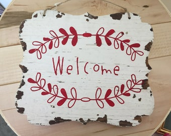 Hand Painted Welcome Sign