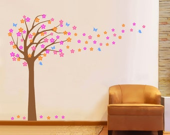 Windy Tree decals, great for nursery - FREE SHIPPING To USA