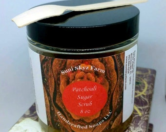 Patchouli Sugar Scrub - Patchouli Body Scrub - Patchouli Body Polish - Patchouli Skincare - Spa Gift - All Natural Sugar Scrub