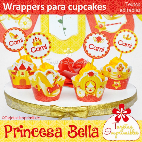 princess bella wrappers and toppers for cupcakes to print immediate