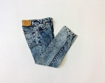 Vintage Levi denim jeans 22 waist kids 10 Levi jeans vintage denim 10 year old jeans vintage kids Levi Strauss denim jeans kids 10 jeans