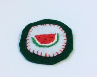 Watermelon Hand Stitched Felt Sew on Patch
