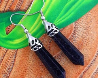 Earrings pendant Blue River chakra-Reiki