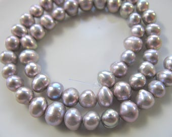 Fresh Water Pearls, 13 and 1/2 inch strand, 56 beads, roundels, 5x7mm, Jewelry supply B-1485