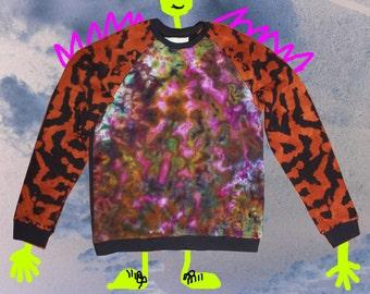 Ice Dye  Psychedelic Tie Dye Sweatshirt   Size L
