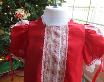 Size 2 Toddler Heirloom Dress with Swiss Embroidery