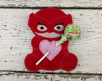 Owl Hero Sucker Holder - Small Gift - Class Party Gift - Valentine's Day - Lollipop Holder - Party Favor - Thank You Gift - Party Supplies
