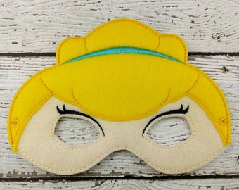 Cinder Princess Children's Mask  - Costume - Theater - Dress Up - Halloween - Face Mask - Pretend Play - Party Favor