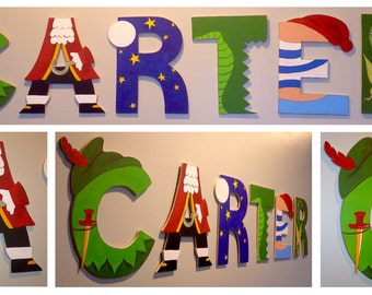 Peter Pan theme INDIVIDUAL wooden letters