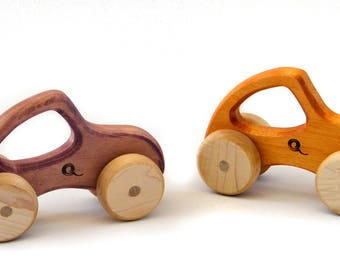 Push wooden cars