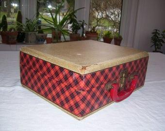 Record Player Case Decca  Travel Case Storage Case 1960s