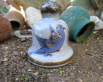 Ken Edwards El Palomar Bird Hand Painted Lead Free Tonala Mexico Bell