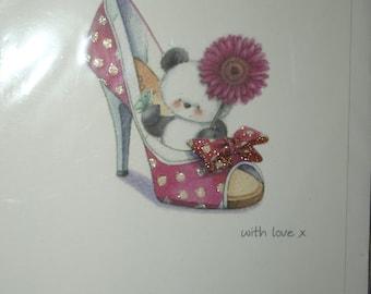 Birthday Girl With Love x   Birthday Card