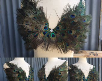 Peacock feather bra
