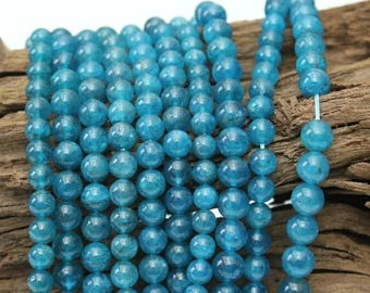 Natural Blue Apatite Beads Strands,4.5MM Stone Loose Beads - 40CM In Length