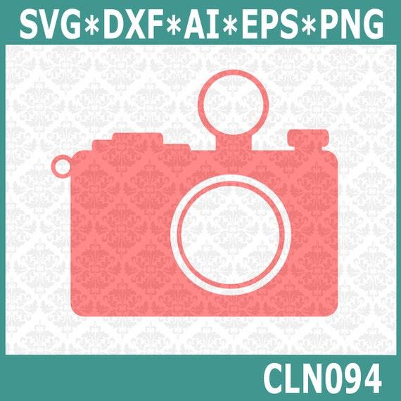 CLN094 Camera Plain Monogram Photography Photographer SVG DXF Ai Eps PNG Vector Instant Download Commercial Cut File Cricut Silhouette