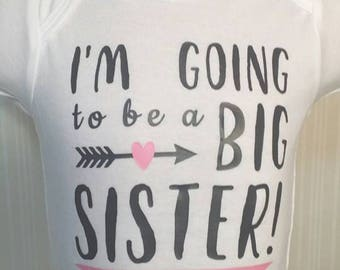 Big Sister Shirt - Big Brother Shirt - Pregnancy Announcement - Photo Prop - Personalized - Custom