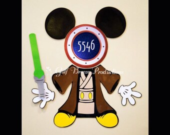Jedi Mickey Star Wars Magnet for Disney Cruise Door