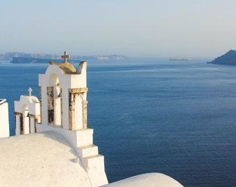 Caldera at Golden Hour, Oia, Santorini   Greece Photography