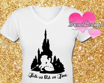 Tale As Old As Time Beauty and The Beast Vinyl Iron On - Mailed Vinyl Transfer