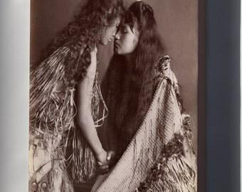 Canvas 24x36; Maori Women, New Zealand C1900