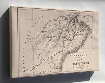 Canvas 24x36; Map Of Basutoland 1870