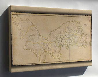 Canvas 24x36; Map Of Korea 1900