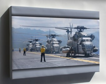 Canvas 24x36; Ch-53D Sea Stallions Uss Bonhomme Richard (Lhd 6)