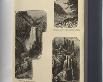 Canvas 24x36; Views Of Yellowstone National Park 1881