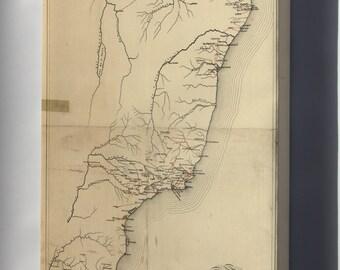 Canvas 16x24; Railroad Map Of Brazil 1902