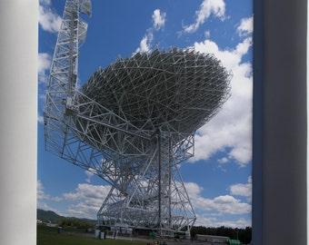 Canvas 16x24; Green Bank Telescope