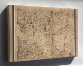Canvas 16x24; Map Fauquier Prince William Co'S Virginia 1865