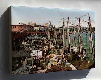 Canvas 16x24; Muelle San Francisco, Havana, Cuba, 1904 #031215