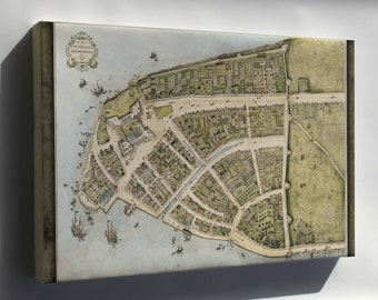 Canvas 16x24; New Amsterdam C1660Original City Map Of New Amsterdam Called Castello Plan From 1660