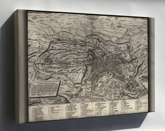 Canvas 16x24; Map Of Rome, Italy, 1561